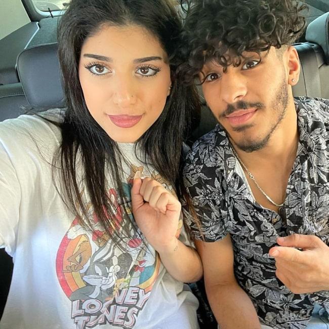 Banen Stars and social media star Walid Sharks in a selfie that was taken in June 2021
