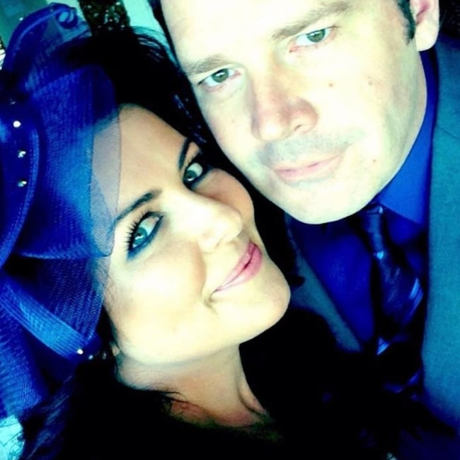 Brad Sherwood and his wife Seana Mahoney as seen in a selfie that was taken in February 2021