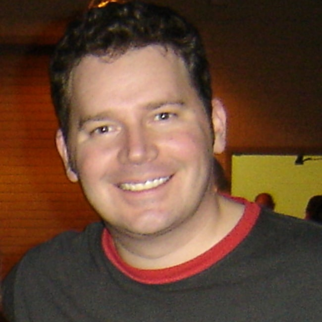 Brad Sherwood as seen in a picture that was taken after an improv show with Colin Mochrie in Fort Myers, Florida in March 2006