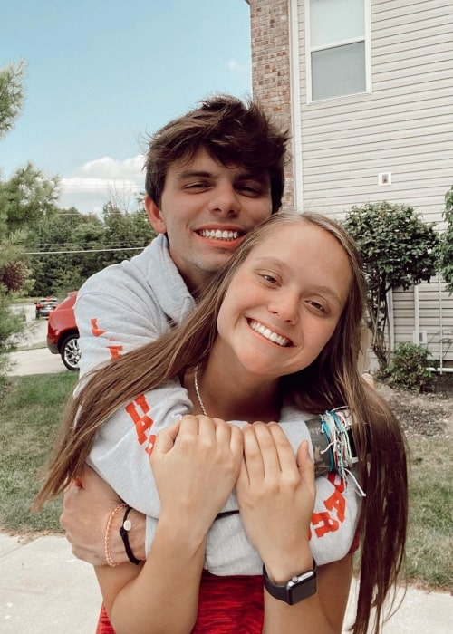 Braxton Comer as seen in a picture with his girlfriend Olivia Pearson that was taken in May 2021