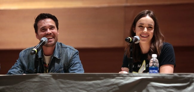 Brett Dalton and Elizabeth Henstridge as seen while speaking at the 2016 Phoenix Comicon Fan Fest at the Phoenix Convention Center in Phoenix, Arizona
