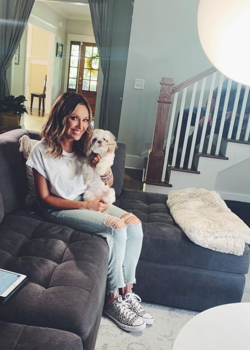 Carly Pearce as seen in a picture that was taken with her dog June in Nashville, Tennessee in May 2021