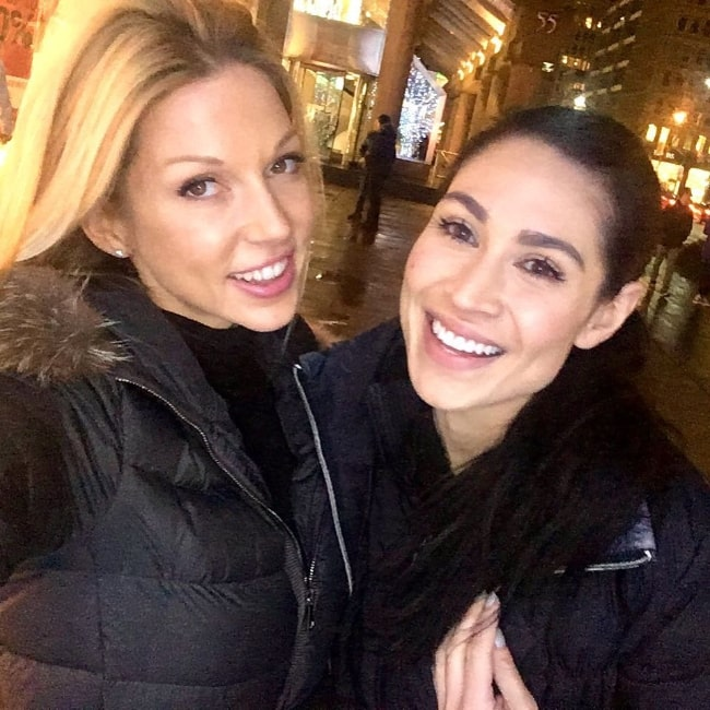 Cassie Steele (Right) and Miriam McDonald in a selfie in December 2016