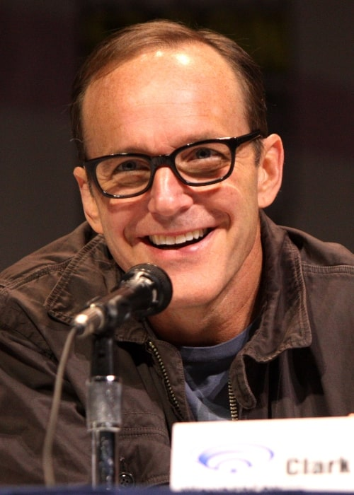 Clark Gregg pictured while speaking at the 2013 WonderCon in Anaheim, California on March 31, 2013