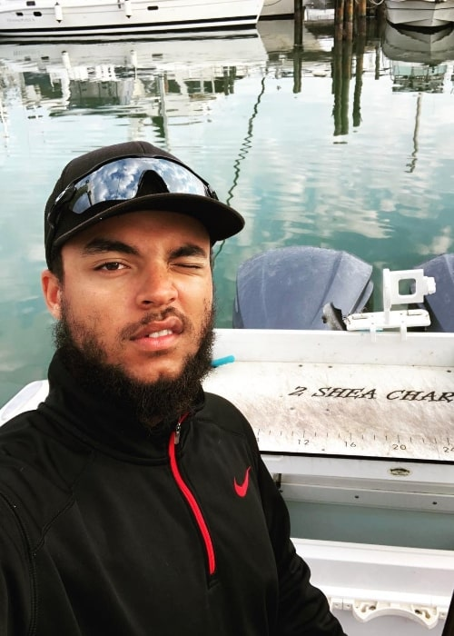 Connor Cruise as seen while taking a selfie in Clearwater, Florida in March 2018