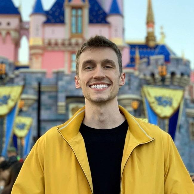 Dylan Is In Trouble as seen in a picture that was taken in Disneyland, California in June 2019