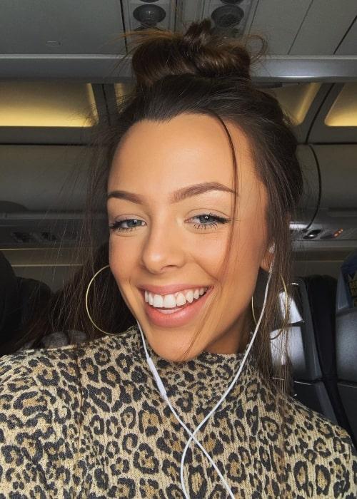 Eliza Minor as seen in a selfie that was taken in December 2018