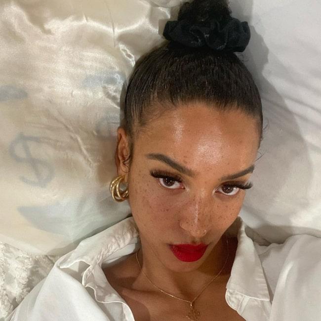Flora Carter as seen in a selfie that was taken in Los Angeles, California in February 2021