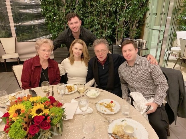 Frankie Valli (Second from Right) enjoying a Thanksgiving with his family