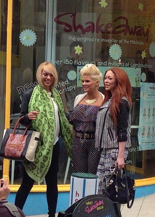 (From left to right) Liz McClarnon, Kerry Katona, and Natasha Hamilton of Atomic Kitten as seen in 2013