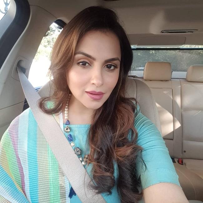 Gurdeep Kohli as seen while taking a car selfie in June 2019