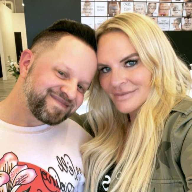 Heather Gay as seen in a selfie with Shay at Beauty Lab + Laser in March 2021
