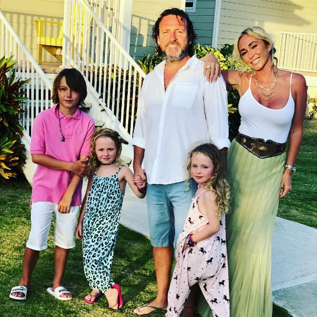 Jenny Frost as seen posing with her family in 2018