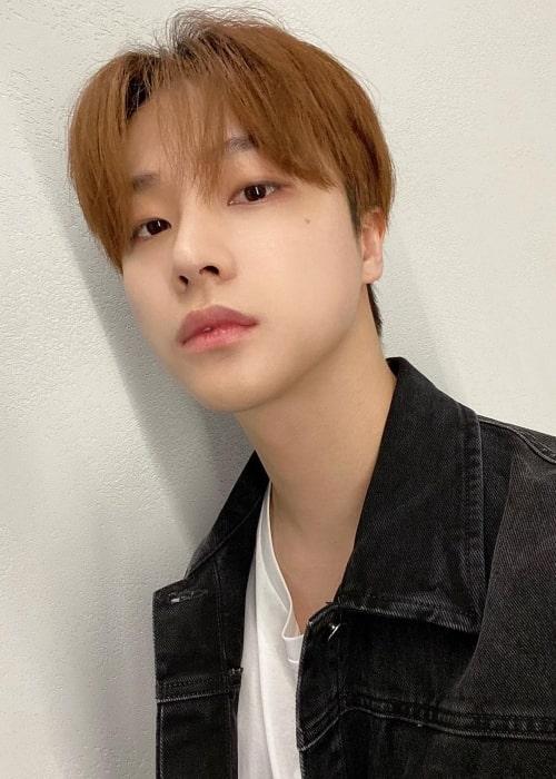 Jinhwan as seen in a selfie that was taken in June 2021