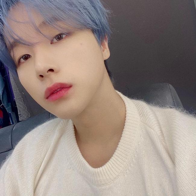 Jinhwan as seen in a selfie that was taken in March 2021