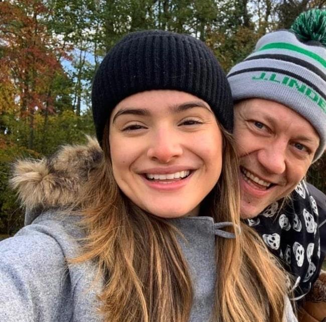 Jukka Hildén happy with his wife in October 2020