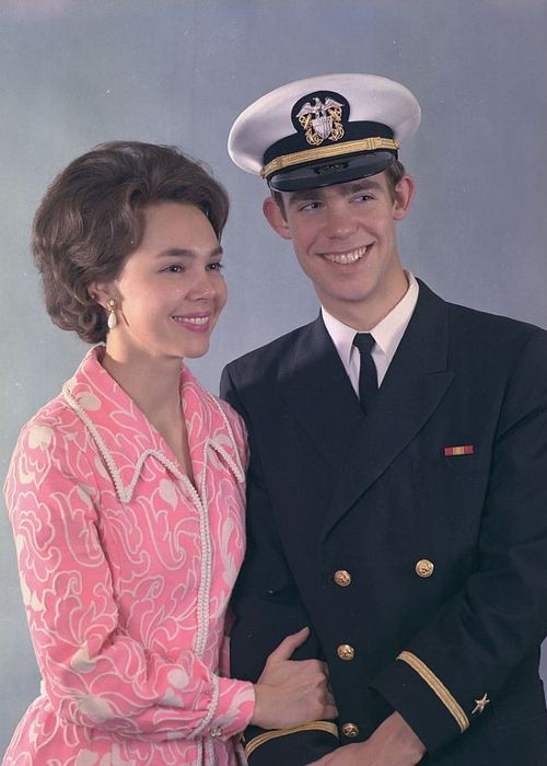 Julie and David Eisenhower as seen smiling in 1971
