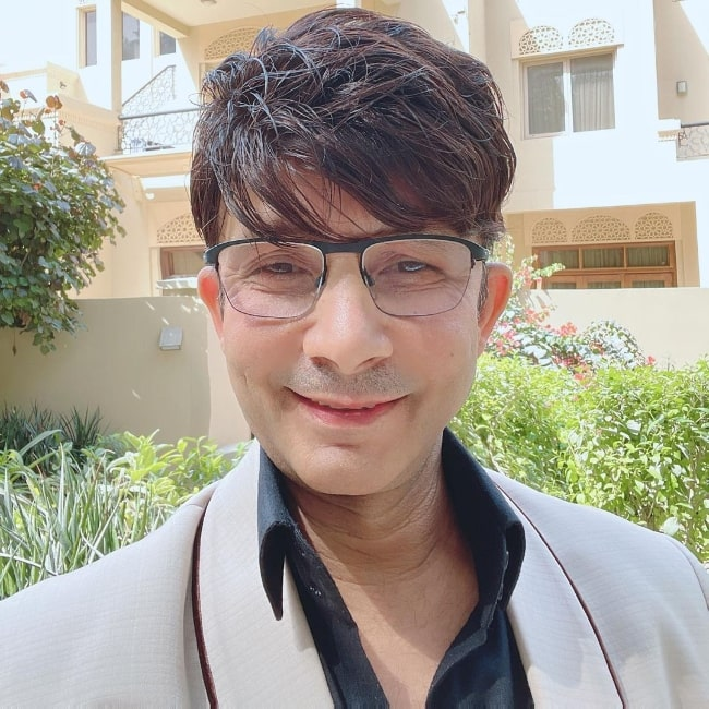 Kamaal R. Khan as seen while taking a selfie at his home in Dubai in March 2021