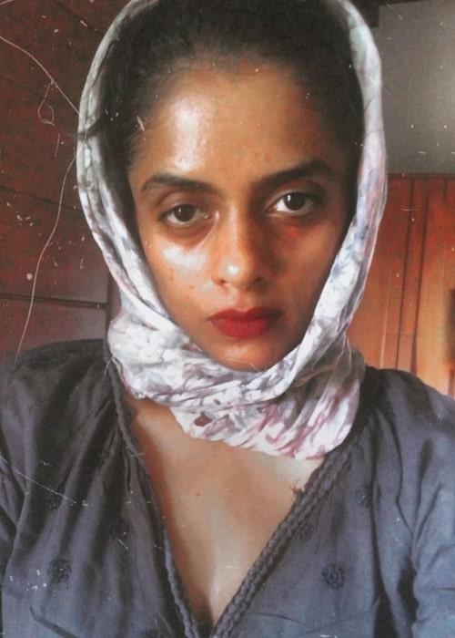 Kani Kusruti taking a selfie in March 2020