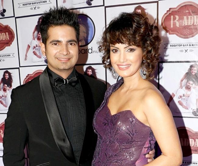 Karan Mehra and Nisha Rawal at the launch of Nisha Rawal's single 'Aye Dil Hai Mushkil' in November 2016