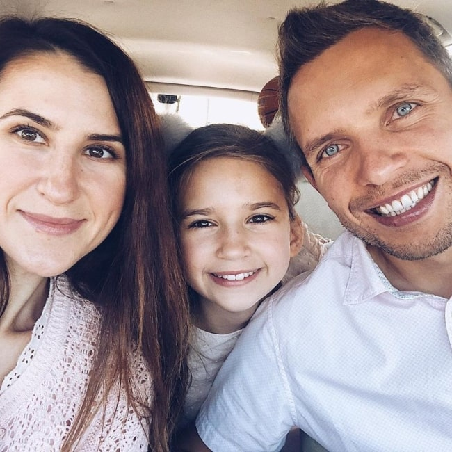 Karolina Protsenko as seen in a selfie with her mother Ella and father Nick Protsenko that was taken in March 2021