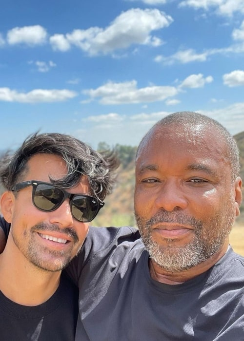 Lee Daniels and Jahil Fisher, as seen in June 2021