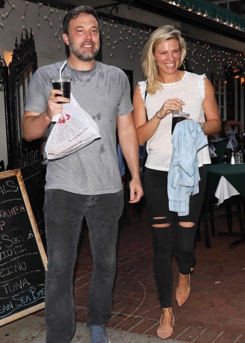 Lindsay Shookus and Ben Affleck, as seen in July 2017