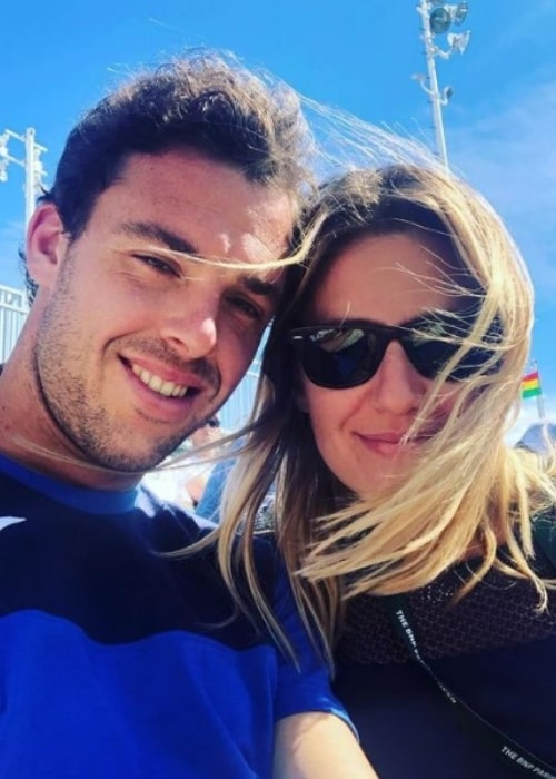 Marco Cecchinato and Gaia, as seen in March 2019