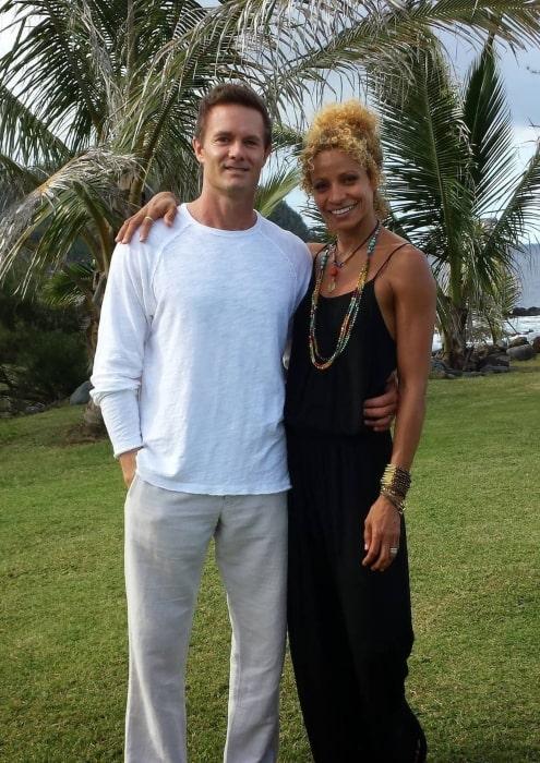 Michelle Hurd in June 2021 wishing her husband a happy anniversary