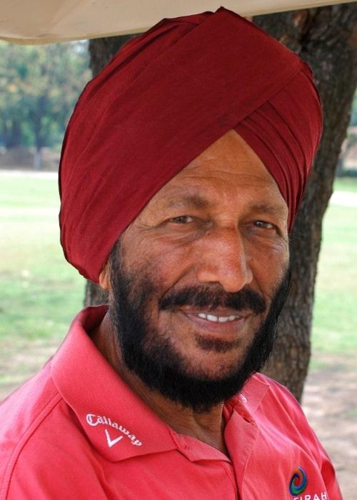 Milkha Singh at Chandigarh Golf Club in 2012
