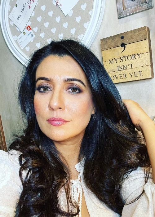 Mini Mathur as seen while taking a selfie in April 2021