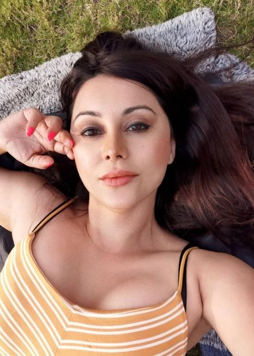 Minissha Lamba as seen in a selfie that was taken in February 2021