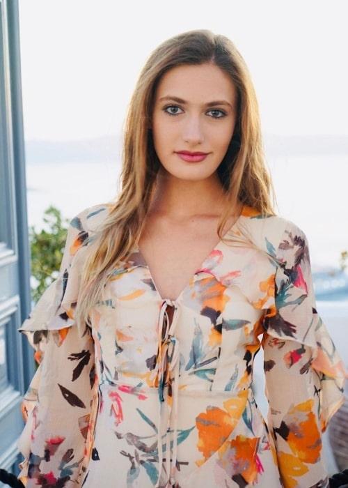 Nicole Elizabeth Berger in Santorini in September 2019