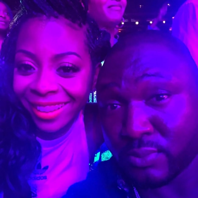 Nonso Anozie as seen while taking a selfie with Bresha Webb in 2018