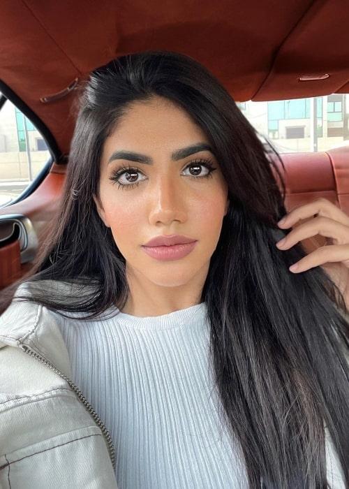 Noor Stars as seen in a selfie that was taken in Dubai, United Arab Emirates in June 2021