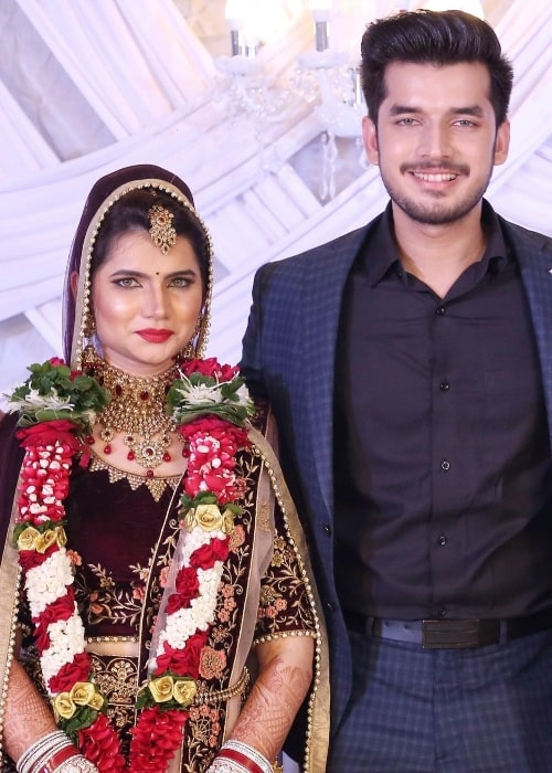 Paras Kalnawat in a picture alongside his sister