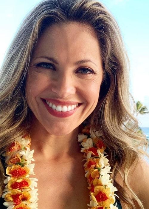 Pascale Hutton as seen in a selfie that was taken in Oahu, Hawaii in March 2021