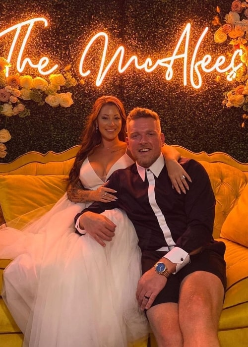Pat McAfee and Samantha Ludy, as seen in August 2020