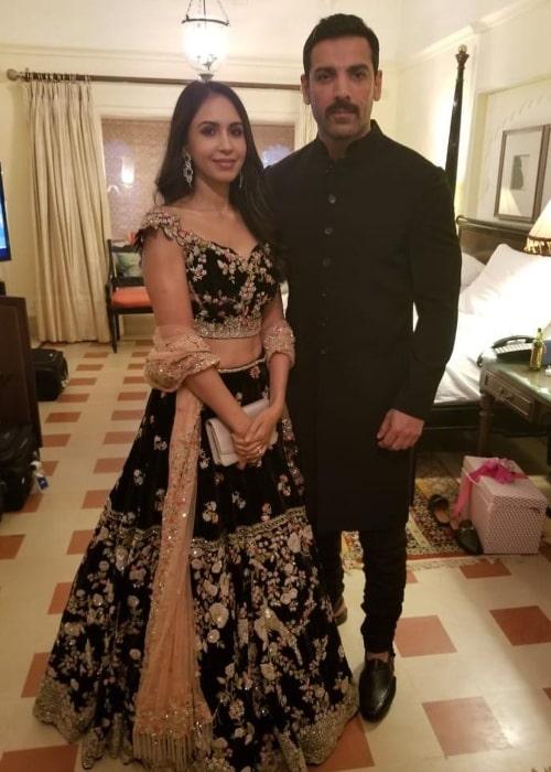 Priya Runchal and John Abraham as seen in a throwback post on Instagram in June 2021
