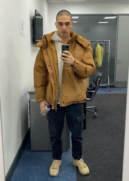 Reuben Selby as seen in a selfie that was taken in February 2021