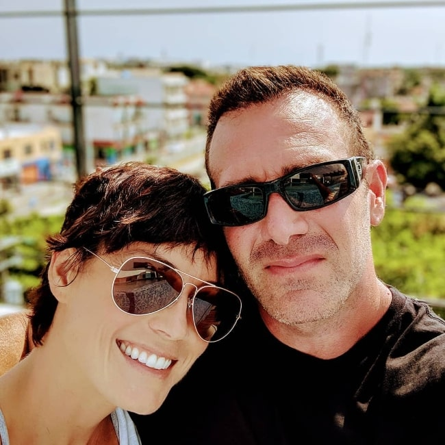 Richard Ruccolo as seen while taking a selfie with his wife in Playa del Carmen, Quintana Roo in October 2018