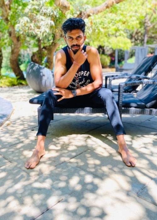 Ruturaj Gaikwad as seen in an Instagram Post in March 2020