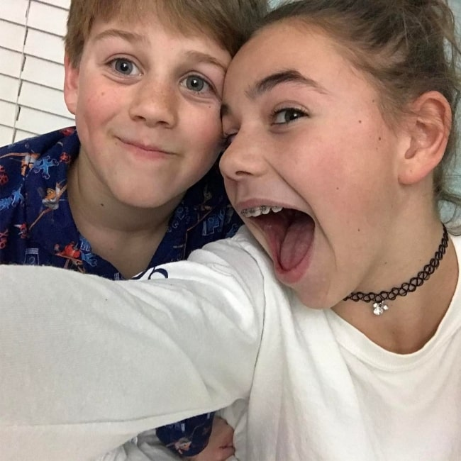 Ryan Donnelly as seen in a selfie with his sister Katie that was taken in January 2017