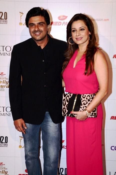 Samir Soni and Neelam Kothari at Colors Indian Telly Awards
