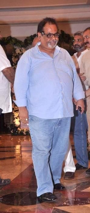 Satish Kaushik at Rajesh Khanna's prayer meet in 2012