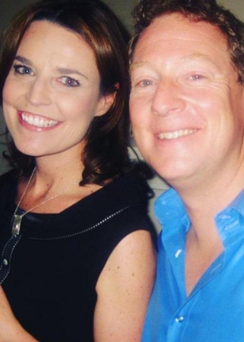 Savannah Guthrie and Michael Feldman, as seen in July 2011