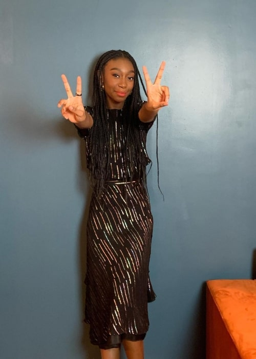 Shahadi Wright Joseph as seen in a picture that was taken in April 2021