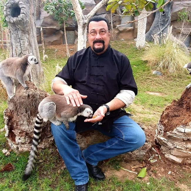 Steven Seagal in April 2020 thanking his fans and friends for their well wishes