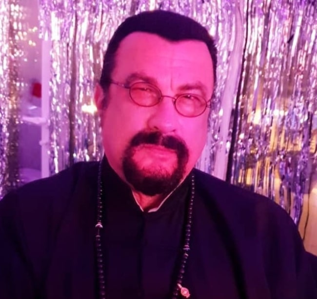 Steven Seagal in January 2020 wishing everyone a happy new year