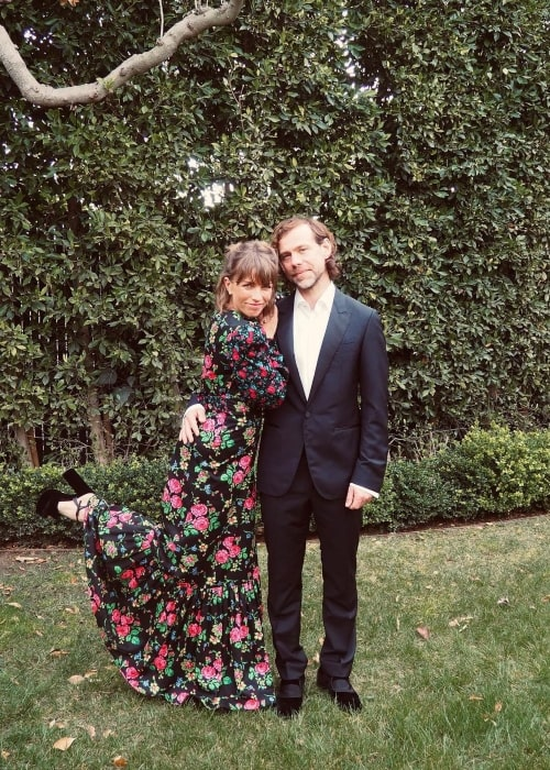 Aaron Dessner and Stine Wengler, as seen in March 2021